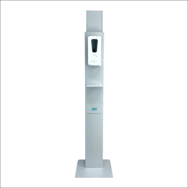 Hand Sanitizer Dispenser Stand (gray) (with base)